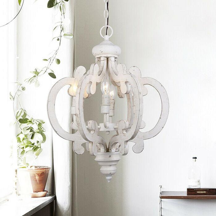 Antique Wooden Chandelier Farmhouse Distressed Ceiling Light
