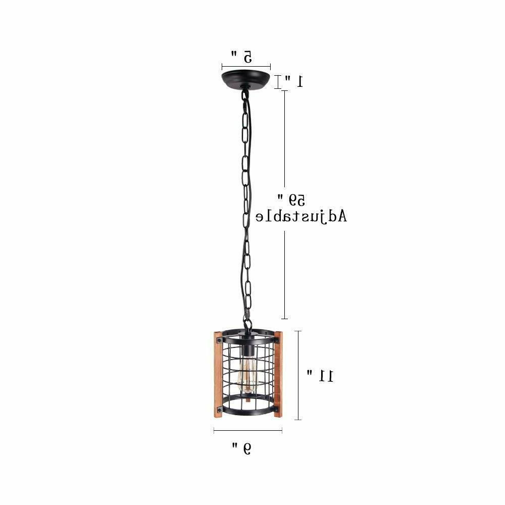 Cage Chandelier Foyer Hanging Lamp Ceiling Light Fixture