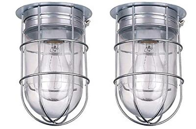 ceiling wall barn light with cage