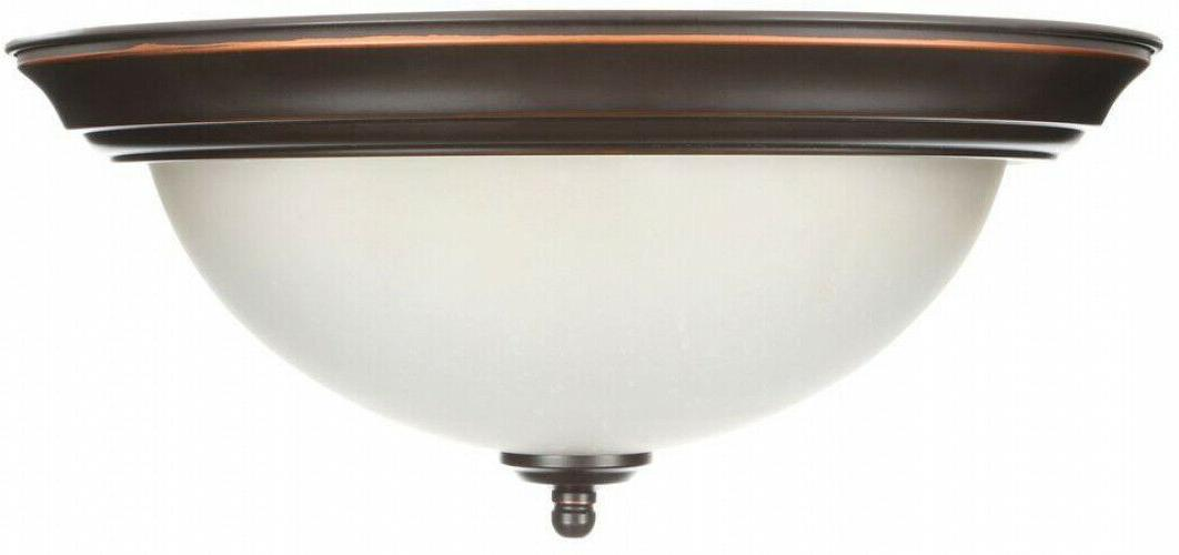 Flush Mount 2-Pack Oil Fixture 13 in. Shades