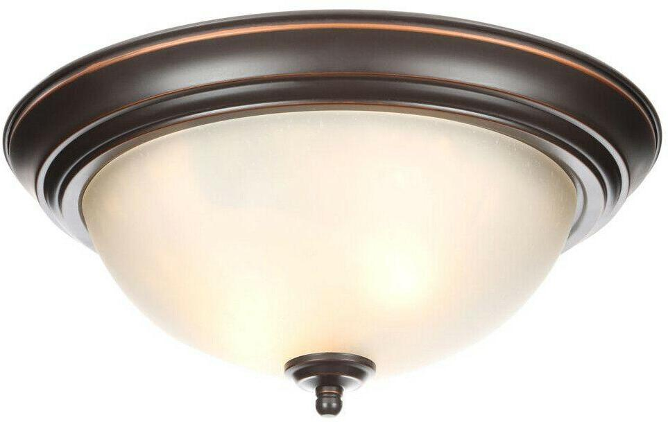 Flush Mount 2-Pack Bronze Fixture in. Shades