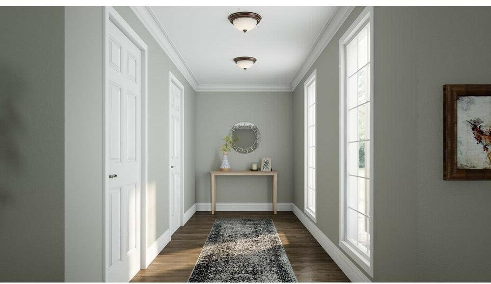 Flush Mount 2-Pack Fixture 13 in. Shades