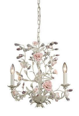 Heritage Mini Candle Chandelier in Crme