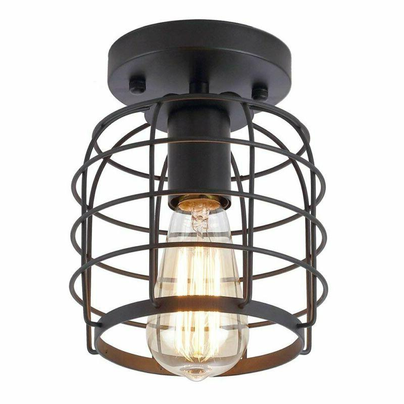 Create for Life Industrial Vintage Flush Mount Ceiling Light