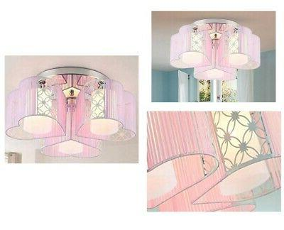 love pink chandelier 3 lights Hearts gorgeous ceiling lamp Deco Fabric