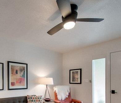 Mazon Flush Indoor Ceiling Fan with LED Kit with Remote