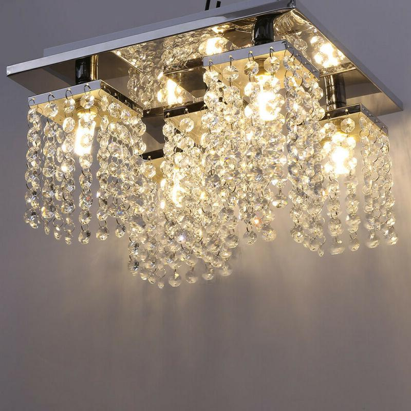 Modern Crystal Chandelier 5 Ceiling Light Lamp Fixture