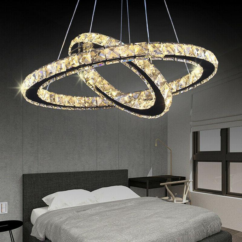Modern LED Chandeliers Two Rings Pendant Round