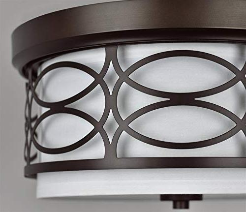 Kira Home Modern Ceiling Frosted Diffuser, Bronze