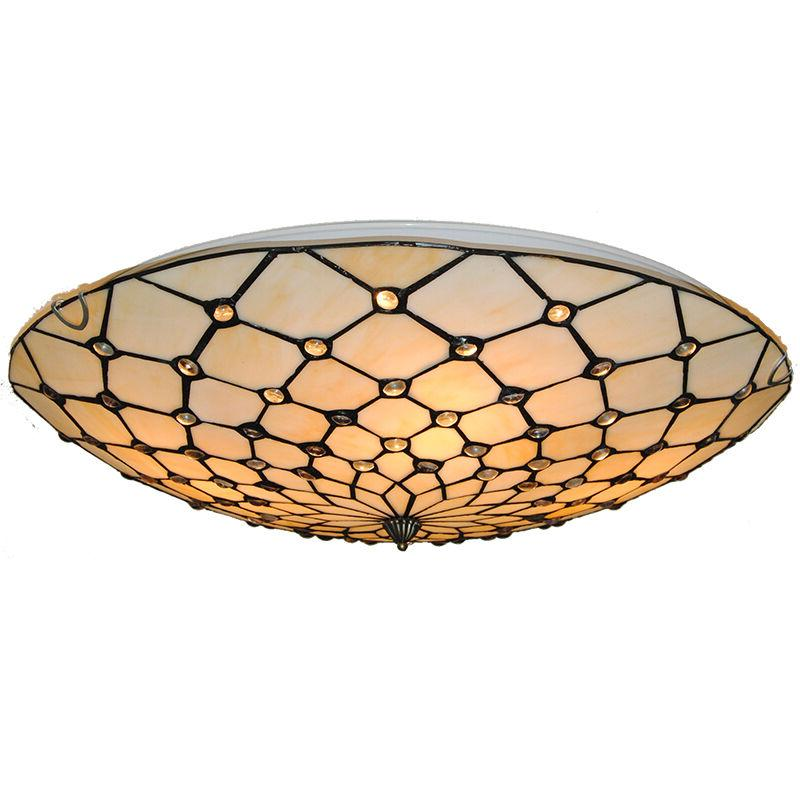 Tiffany Chandelier Flush Mount Stained
