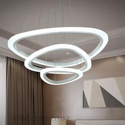 LED Modern Pendant Lights For Living Room Circle Acrylic Cei