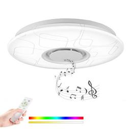 LED Music Ceiling Light with Bluetooth Speaker APP+ Remote C