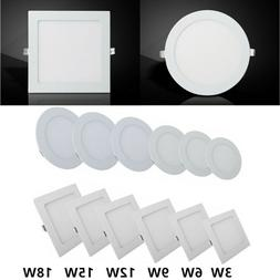 LED Panel Lights Ceiling Recessed Flat Downlight Ultra Thin