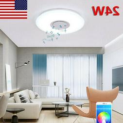 Light Fixtures Ceiling Flush Mount with Speaker Color Changi