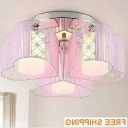 love pink chandelier 3 lights Hearts gorgeous soft ceiling l