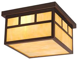 Mission Burnished Bronze 7 in. Outdoor Ceiling Light