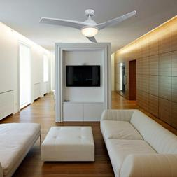 Modern Ceiling Fan with LED Panel Light&Remote Control for I