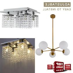 modern crystal chandelier 5 ceiling light lamp