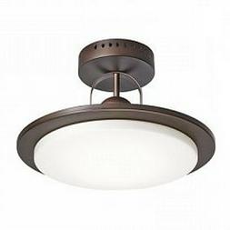 Kichler Oil Rubbed Bronze And Etched Glass Semi Flush LED Ce