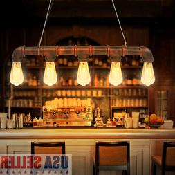 Retro Industrial Pendant Light Bar Hanging Ceiling Lamp Rust
