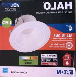 Halo RL 4 in. White Integrated LED Recessed Ceiling Light Re