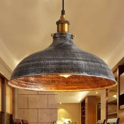 Rustic Industrail Big Barn Pendant Light Lamp Dome Shade Han