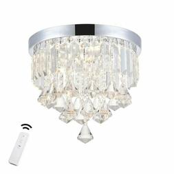 ANKEE Smart LED Ceiling Crystal Chandeliers Modern Flush Mou