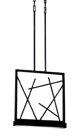 Nuvo Stix LED Pendant Light - 16W in. Patina Bronze