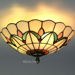 Tiffany Style Semi Flush Mount Ceiling Light Pendant Lamp St