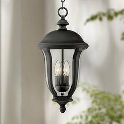 """Traditional Outdoor Ceiling Light Hanging Black 16 3/4"""" for"""