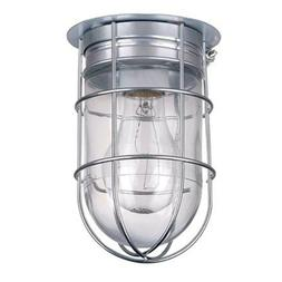All Weather Wall Barn Ceiling Exterior Light with Cage Outdo