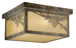Yellowstone Olde World Patina 6 in. Outdoor Ceiling Light